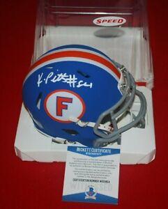 KYLE PITTS FLORIDA GATORS signed speed mini helmet Beckett COA 4