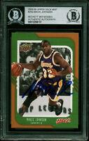 Lakers Magic Johnson Signed 2008 Upper Deck MVP #250 Card BAS Slabbed #12256131