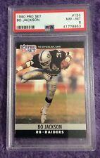 🏉 1990 Pro Set Los Angeles Raiders #155 Bo Jackson PSA 8 NM-MT