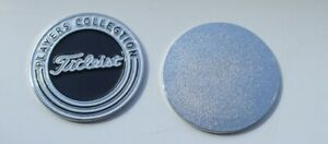 FLAT 1 inch TITLEIST Players Collegtion Golf ball marker POST FREE in UK