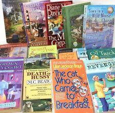 RANDOM LOT 10 Cozy Mysteries RANDOM titles paperback books sleuths  SHIPS FREE