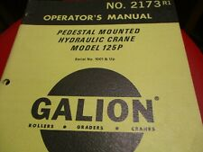 Galion 125P Hydraulic Crane Operators Manual
