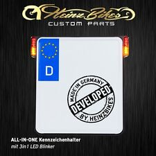 All-In-One Kennzeichenhalter mit 3in1 LED Blinker für VRod Night Rod, schwarz
