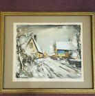 Maurice de Vlaminck Sous la neige Original lithograph 1963 Edition 118/250 Frame