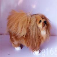Dog Toy Plush Doll Simulation Soft Pekingese Decoration Stuffed  Lovely Worth A+