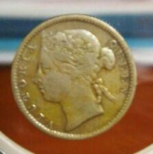 Straits Settlements Queen Victoria 10 Cents 1889 (C) GVF