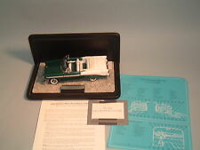 1956 CHEVROLET BEL AIR GREEN CONVERTIBLE FRANKLIN MINT 1:24 DIECAST WITH DISPLAY