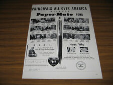 1953 Vintage Ad Paper-Mate Pens Principals Across America Approve