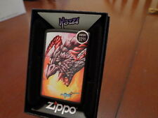 MAZZI DRAGON FLAMES ZIPPO LIGHTER MINT IN BOX