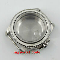 40mm sapphire glass magnifying glass Watch Case fit 2824 2836 MOVEMENT C100