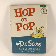Dr Seuss Hop On Pop 1963 Hardcover W/ DJ 1st Edition
