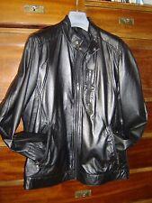 Giacca  giaccone  uomo Conbipel in pelle nera taglia 52 affare nuovo senza etich