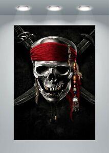 Pirates Skull Classic Movie Large Poster Art Print A0 A1 A2 A3 A4 Maxi