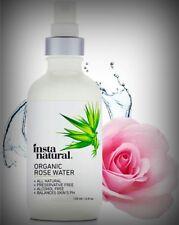 100% Pure Organic Rose Water Facial Toner Anti-Aging Soothing Hydrates 4oz