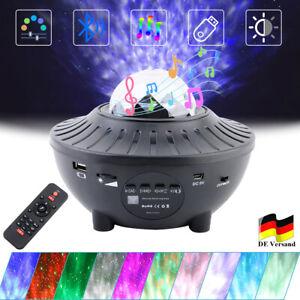 LED Projektor Sternenhimmel Lampe Starry Stern Bluetooth Musik mit Fernbedienung