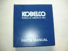 Kobelco Hydraulic SK60 Excavator PARTS MANUAL Catalog Shop Service Factory Rev.