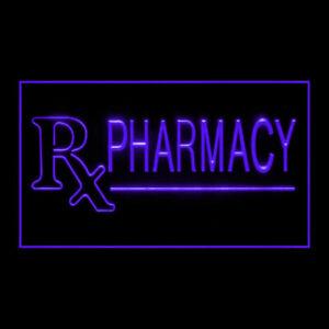 200102 Pharmacy Drugs Pills Mecidine Prescription Display Neon Sign