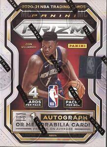 2020-21 PANINI PRIZM NBA BASKETBALL CARDS FACTORY SEALED 6 PACK BLASTER BOX NBA