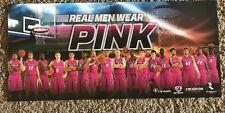 "Creighton Jays Basketball  2015-2016 Pink Out Game Poster ""Real Men Wear Pink"""
