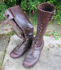VINTAGE tedesco marrone pelle ingegneri/CACCIA/a Cavallo Stivali, stivali al ginocchio