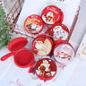 Xmas Christmas Candy Tin Box Candy Jar Iron Boxes Storage Coin Headphones  4H