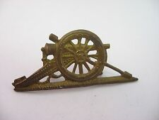 Antique Vintage CANNON Brass Military Pin ~ No back pin ~