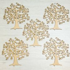 SALE! Wooden MDF Tree Shape Craft Blank Scrapbook Decoupage Family Tree 5 For £5