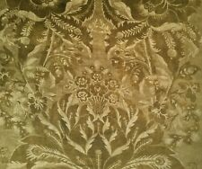 """ZOFFANY CURTAIN FABRIC """"Ducato Velvet"""" 61CM TIGERS EYE DAMASK COLLECTION"""