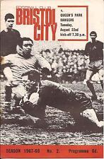 Bristol City v QPR - Div 2 - 22/8/67 - Football Programme