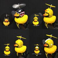 Cute Helmet Propeller Yellow Duck Kids Bicycle Handlebar Horn Bell Light Fun