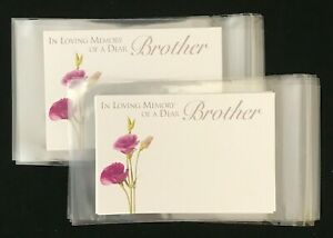 10 Florist Message Cards Gift Tags 10 Cellophane Envelopes Sympathy Relations