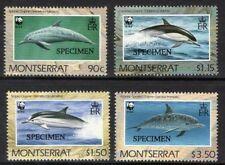 MONTSERRAT SG833/6s 1990 DOLPHINS SPECIMEN MNH
