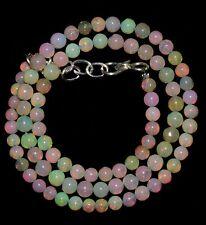 38.45 crt Natural Ethiopian Welo Fire Opal Round Balls Beads Inch 14.80 (154)