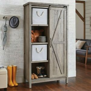 Better Homes & Gardens 421191 Bookcase Storage Cabinet 66 inch - Rustic Gray