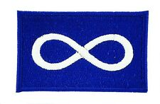 METIS BLUE NATIVE pride FLAG PATCH Patches backpack BADGE IRON ON EMBROIDERED