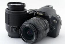 Nikon D40 6.1MP 18-55/55-200mm Lens Set Black [Exc+++] w/8GB SD,Strap [769]
