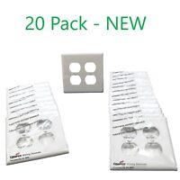 NEW 50 PACK * 2149A-BOX Cooper 2 Gang Jumbo 2 Toggle Wall Plate Almond
