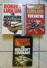 Robert Ludlum Trevayne/Aquitaine Progression/Holcroft Covenant Hardback Books