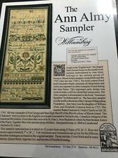 Needlepoint Sampler 'The Ann Almy Sampler' Wlliamsburg