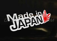 MADE IN JAPAN Japanese Car Decal Sticker JDM Honda Toyota  Mazda Subaru