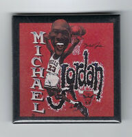 "1990's Michael Jordan caricature button 2""x2"" original pin Salem Wincraft Bulls"