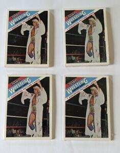1988 Wonderama NWA Wrestling Superstars (4) Sealed Cello Packs - Ric Flair