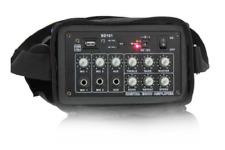 IBIZA Mobile Akku Sound Anlage PORT-6 tragbarer Lautsprecher Mikrofon USB/MP3