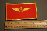 UNITED STATES NAVY U.S.N. AIRCREW RED/GOLD NAME TAG PATCH BADGE BLANK (NO NAME)