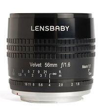 Lensbaby Velvet 56 - objetivo retrato para micro 4/3 (56 mm F/1.6) color negro