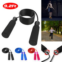 9ft Adjustable Speed Jump Rope Aerobic Exercise Skipping Bearing Speed Fitness