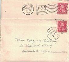 1925 Salida, Colorado Flag & Duplex Cancels on 2 Covers - Each w Letter Enclosed