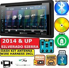 2014-2017 SIERRA SILVERADO BLUETOOTH CD/DVD DOUBLE DIN CAR RADIO STEREO PKG