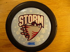 OHL Guelph Storm Snowflake Clear Disc Inlay Team Logo Hockey Puck Collect Pucks