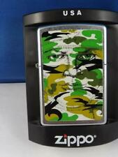 BARRETT SMYTHE HIDDEN FACE CAMO ZIPPO LIGHTER CAMOUFLAGE DISC 2006 SEALED